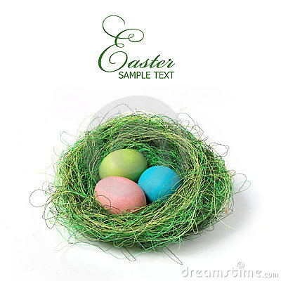 Free Easter Nest Royalty Free Stock Image - 23844816