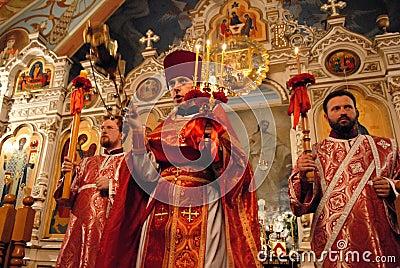 Easter ojcuje świętego Ukraine Obraz Editorial
