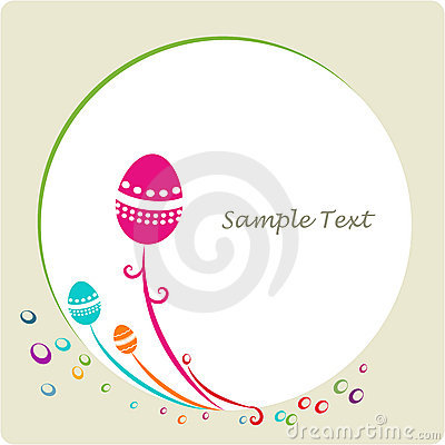Easter ornamental decorative frame
