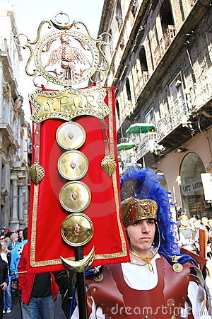 Easter parade, Sicily Editorial Stock Image
