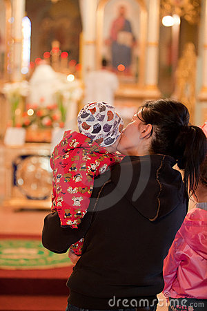 Easter, parishioners of the Orthodox Church. Editorial Photo