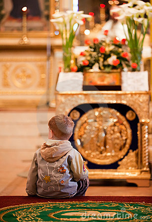 Easter, parishioners of the Orthodox Church. Editorial Stock Photo