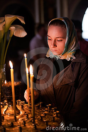 Easter, parishioners of the Orthodox Church.
