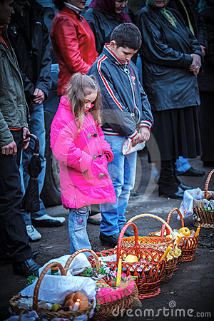 Easter, parishioners of the Orthodox Church Editorial Image