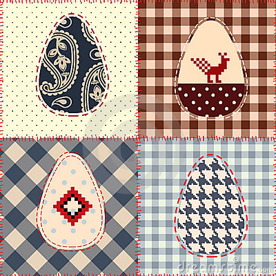 Easter patchwork pattern
