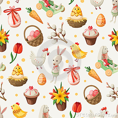 Free Easter Pattern Stock Photo - 39398450