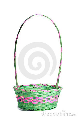 Free Easter Pink And Green Empty Basket Royalty Free Stock Images - 18823999