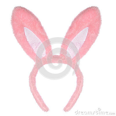 Free Easter Pink Bunny Ears Isolated On White Royalty Free Stock Images - 38543869