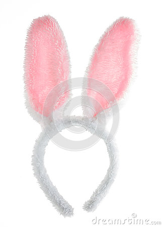 Free Easter Pink Bunny Ears Isolated On White . Royalty Free Stock Images - 41805169
