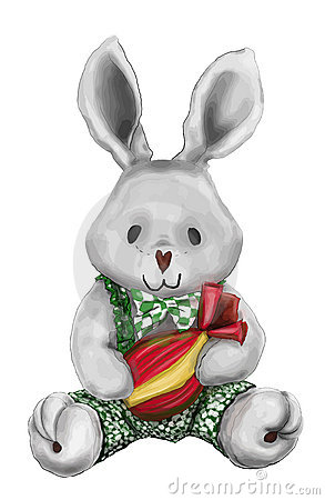 Easter plush bunny