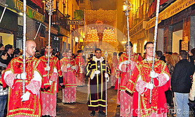 Easter Procession in Granada, Spain Editorial Stock Photo