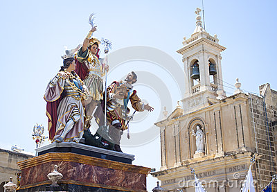 Easter procession statues Gozo Malta Europe