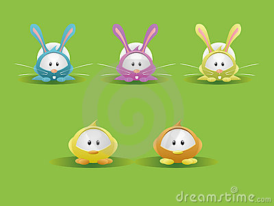 Easter Rabbit & Chicks