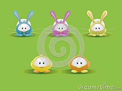 Easter Rabbit & Chicks