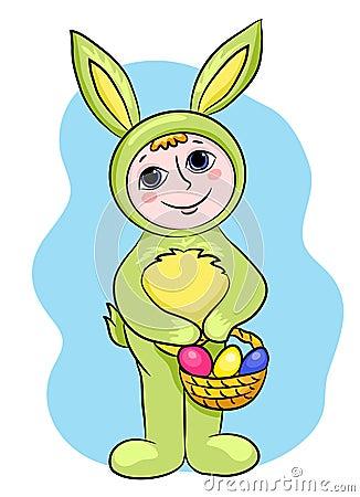 Easter rabbit child