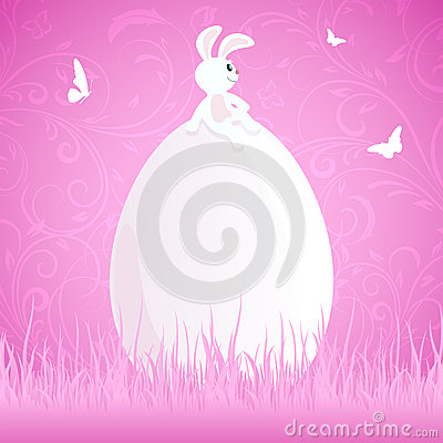 Easter rabbit on egg