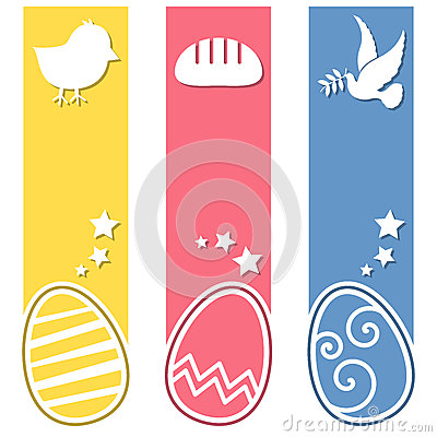 Easter Retro Eggs Vertical Banners