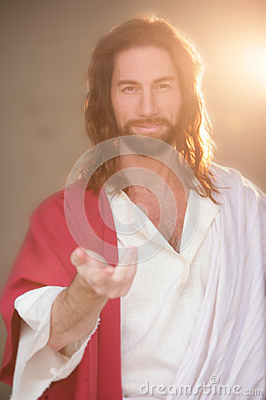 Free Easter Risen W Hand & Gentle Smile Stock Photos - 36675503