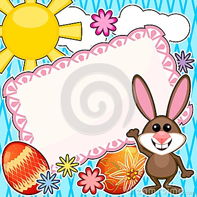 Easter scrapbook card