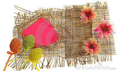 Easter scrapbooking greeting card