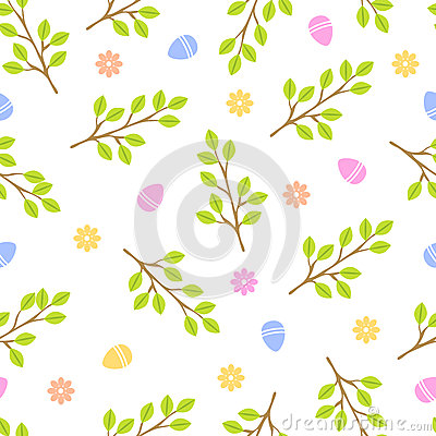 Easter seamless pattern retro vintage design party holiday celebration wallpaper and greeting colorful fabric textile Vector Illustration