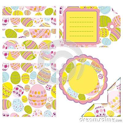 Easter set of design elements