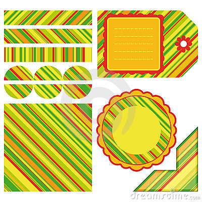 Easter set of stripe design elements