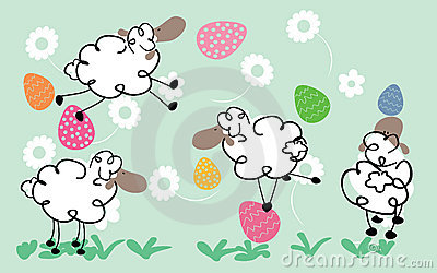 Easter sheeps
