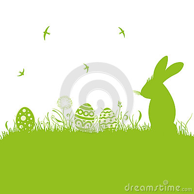 Easter, silhouette, meadow