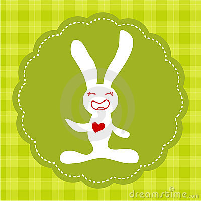 Easter smiling bunny
