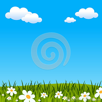Easter or Spring Background Vector Illustration