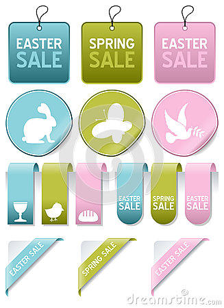 Easter or Spring Sale Elements Set