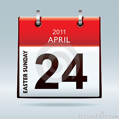 Easter Sunday calendar icon