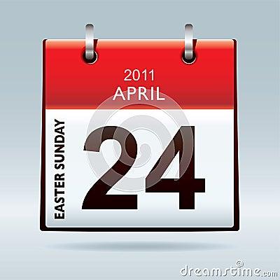 Easter Sunday calendar icon