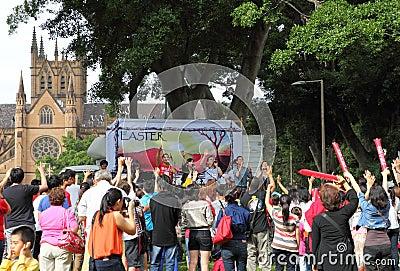 Easter Sunday celebration, Sydney Editorial Stock Image