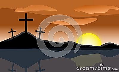 Easter Sunrise Three Crosses
