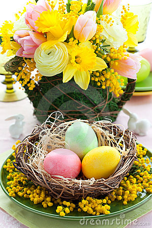 Free Easter Table Setting Stock Photos - 23279873