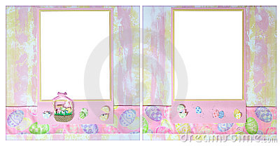 Easter Theme 12 X 12 Digital Scrapbook Layout