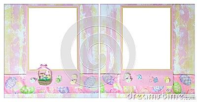Easter Theme 12 X 12 Digital Scrapbook Layout