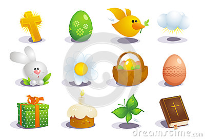 Easter traditional symbols.
