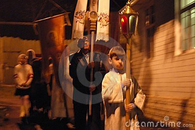Easter in Ukraine, the procession. Editorial Image