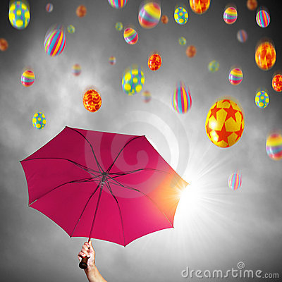 Free Easter Umbrella Royalty Free Stock Photos - 13264378