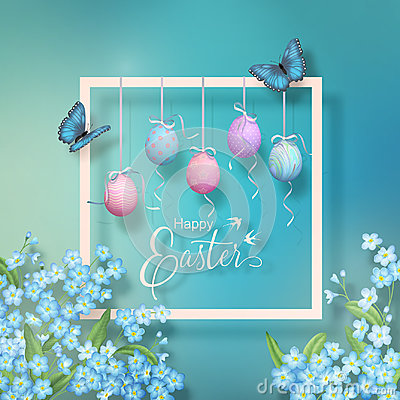 Easter Vector Frame Vector Illustration