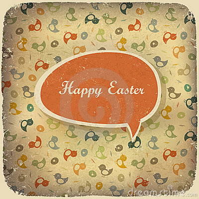 Easter vintage background.