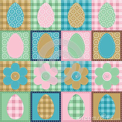 Easter wallpaper patchwork scrapbook