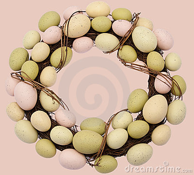 Free Easter Wreath Stock Image - 18432281