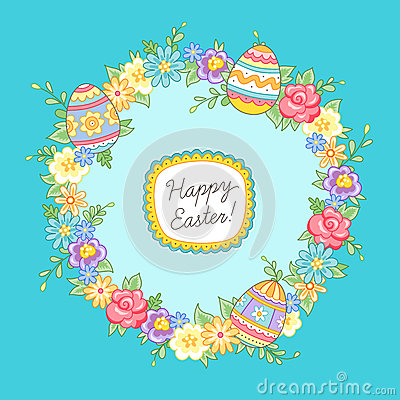 Free Easter Wreath Royalty Free Stock Images - 49225699