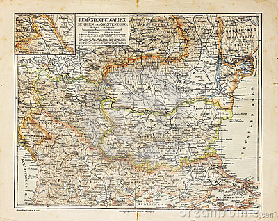 Eastern Europe old map