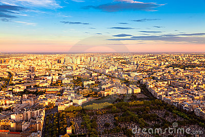 Eastern Paris before Sunset