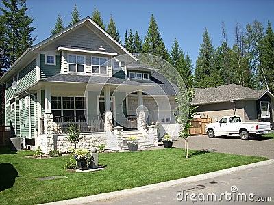 Eastern styled house & yard
